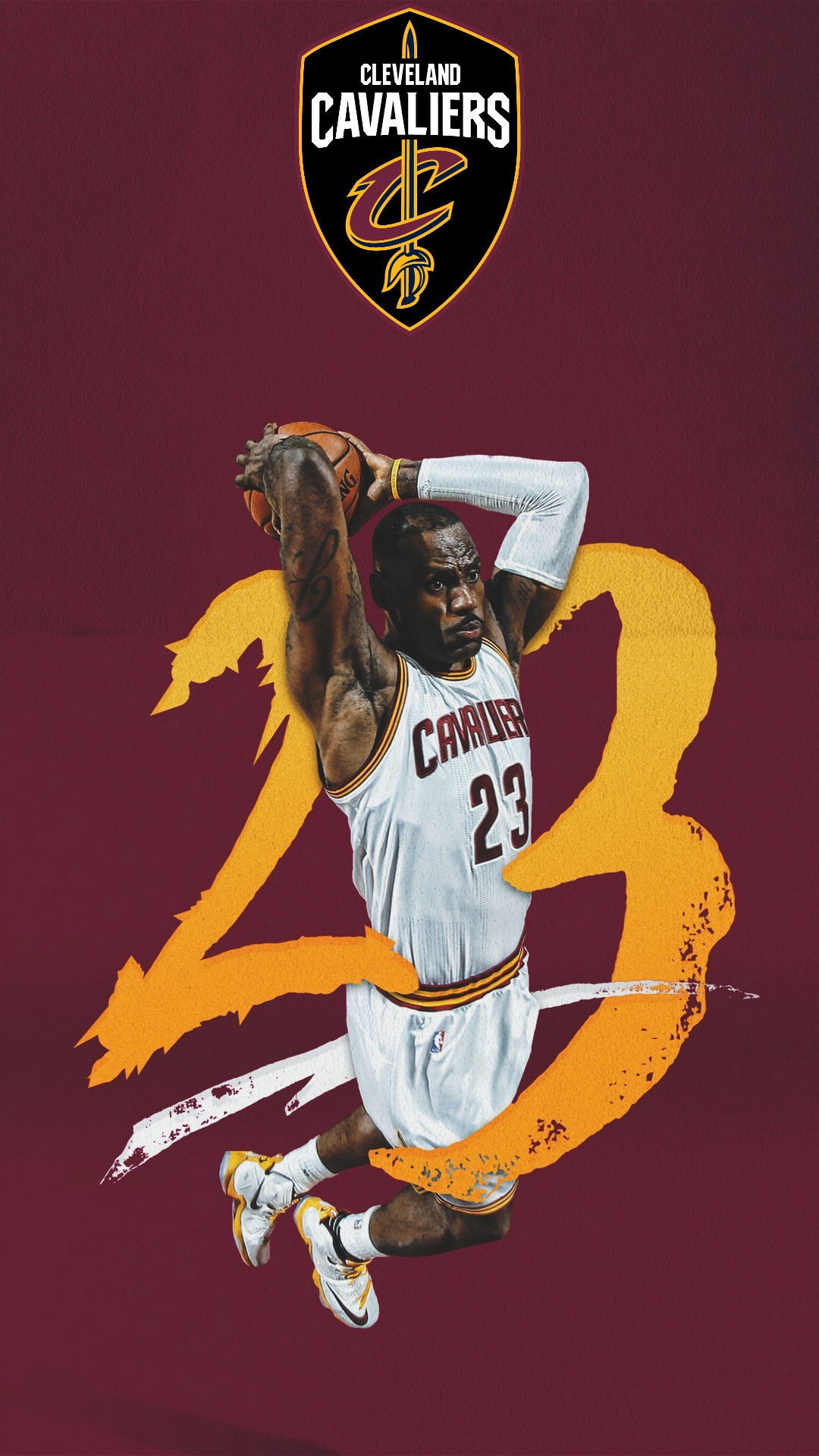Mobile Wallpaper HD LeBron James 1080x1920