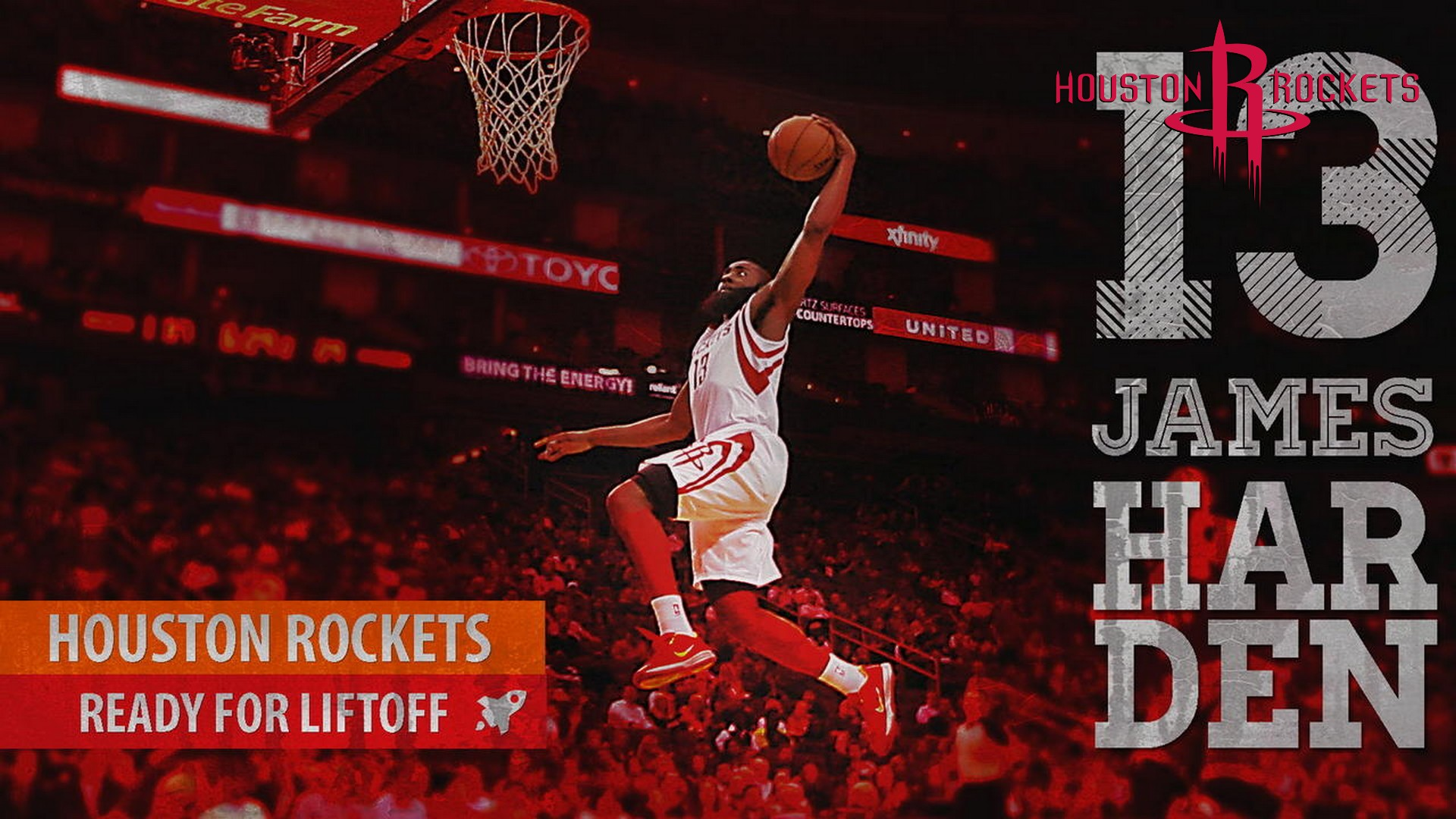 James Harden Wallpaper with image dimensions 1920x1080 pixel. You can make this wallpaper for your Desktop Computer Backgrounds, Windows or Mac Screensavers, iPhone Lock screen, Tablet or Android and another Mobile Phone device